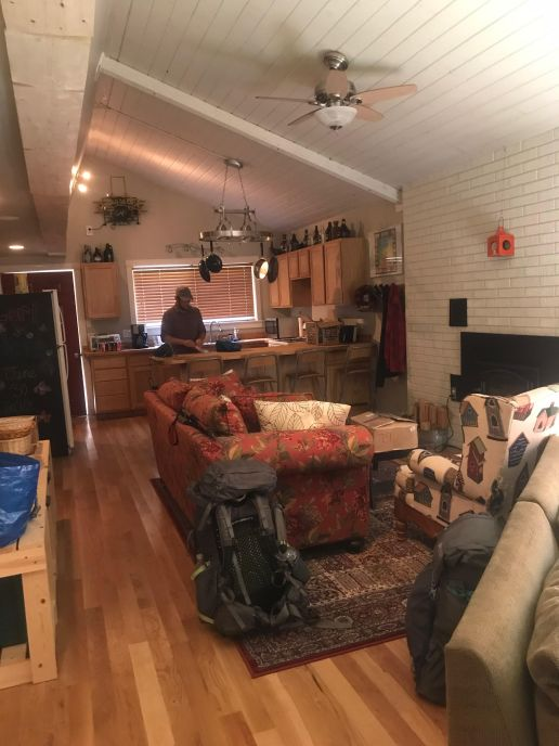 An interior shot of the darling cabin in Baring, WA.