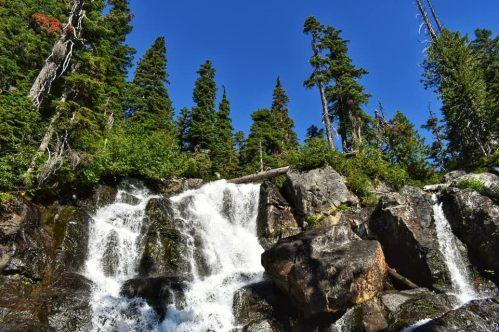 alpine lakes waterfall