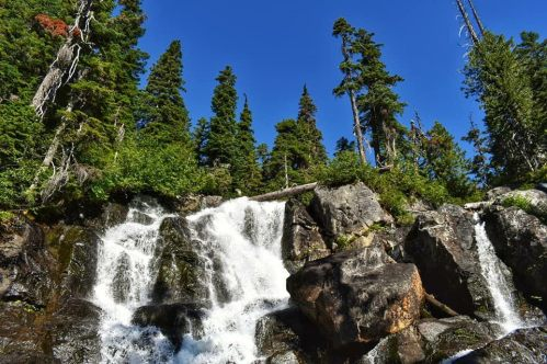 alpine lakes waterfall